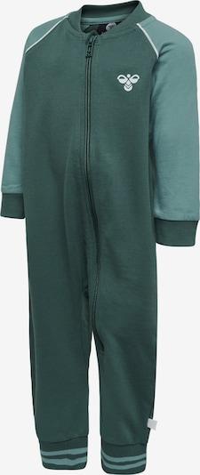 Hummel Jumpsuit 'Marlin' in grün / dunkelgrün / weiß, Produktansicht