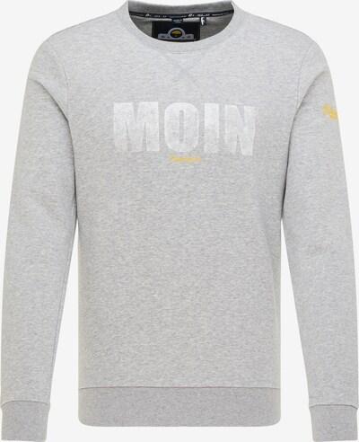 Schmuddelwedda Sweatshirt in gelb / grau / weiß, Produktansicht