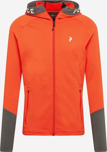 PEAK PERFORMANCE Bluza rozpinana sportowa w kolorze kamień / czerwony / białym, Podgląd produktu