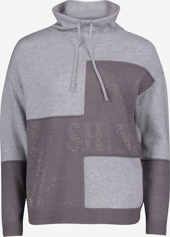 Betty Barclay Strickpullover mit Color Blocking in Grau