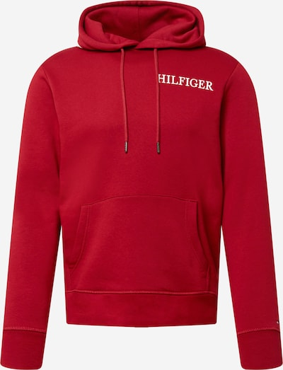 TOMMY HILFIGER Sportisks džemperis, krāsa - ugunssarkans / balts, Preces skats