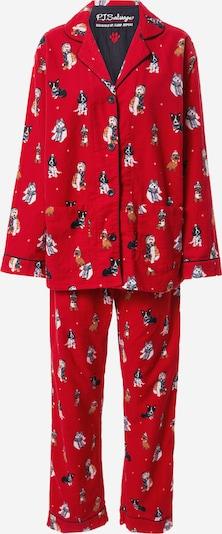 PJ Salvage Pižama | mešane barve / rdeča barva, Prikaz izdelka