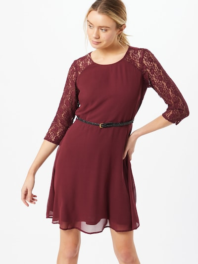 VERO MODA Dress 'Pello' in ruby red / black, View model