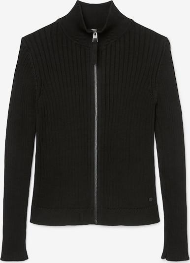 Marc O'Polo Gebreid vest ' aus Organic Cotton ' in de kleur Zwart: Vooraanzicht