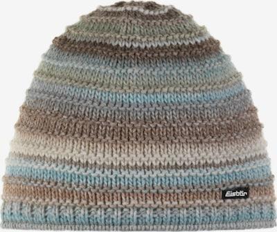 Eisbär Mütze in beige / creme / hellblau / grün, Produktansicht