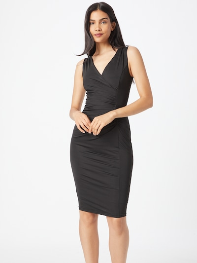 Skirt & Stiletto Рокля за коктейл 'Capri' в черно: Изглед отпред