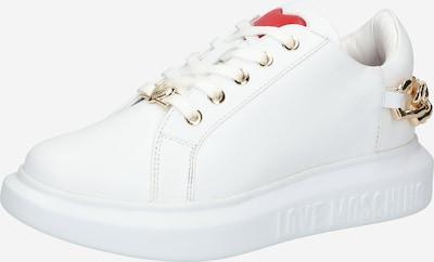 Sneaker low Love Moschino pe auriu / roșu / alb natural, Vizualizare produs