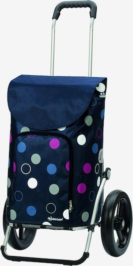 Andersen Shopper Sac de voyage 'Kira' en bleu marine / mélange de couleurs / noir, Vue avec produit