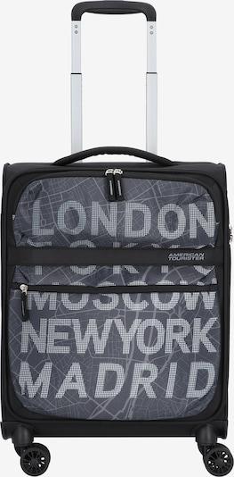 American Tourister Trolley in grau / schwarz / weiß, Produktansicht