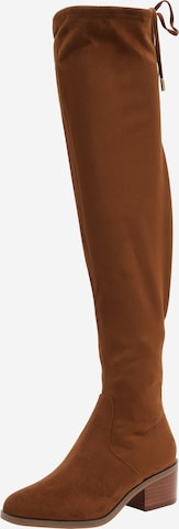 STEVE MADDEN Over the Knee Boots 'Gerardine' in Brown