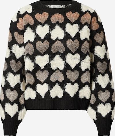 Molly BRACKEN Sweter 'STAR' w kolorze jasny beż / czarny / białym, Podgląd produktu