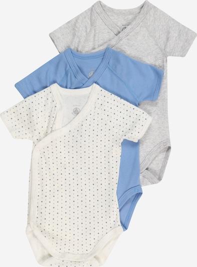 PETIT BATEAU Body 'Naiss' in himmelblau / graumeliert / weiß, Produktansicht