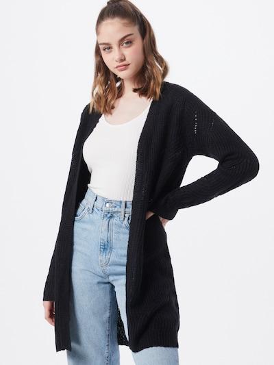JACQUELINE de YONG Strickjacke 'Daisy' in schwarz, Modelansicht