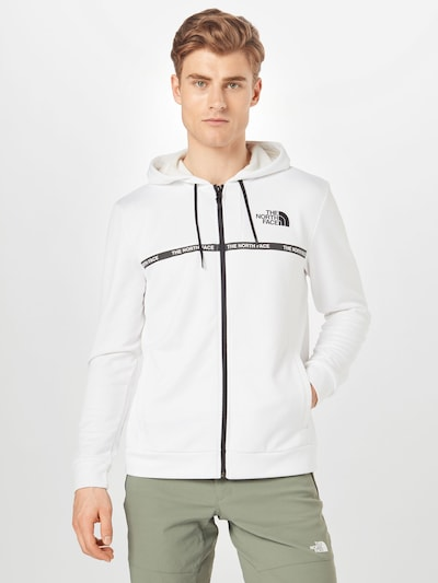 THE NORTH FACE Functionele jas 'Train' in de kleur Zwart / Wit: Vooraanzicht