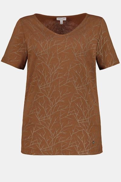 Gina Laura T-Shirt in braun, Produktansicht