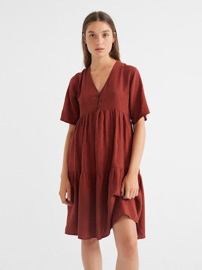 Thinking MU Kleid ' Fresia ' in dunkelorange, Modelansicht