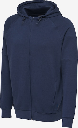 Hummel Zip hoodie in navy, Produktansicht