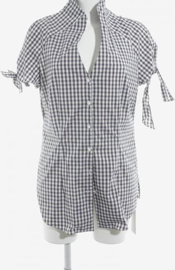Anja Gockel Kurzarm-Bluse in XL in grau / lila / weiß, Produktansicht