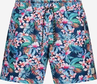 COLOURS & SONS Badeshorts Flower-Print SIMON in mischfarben, Produktansicht