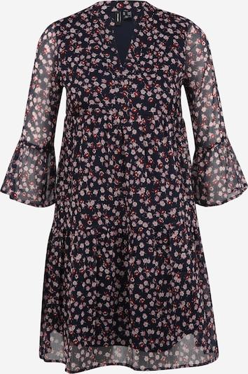 Vero Moda Petite Robe 'KAY' en bleu marine / gris clair / rose ancienne / rouge cerise, Vue avec produit