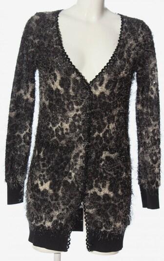 Yumi Cardigan in S in braun / schwarz / wollweiß, Produktansicht