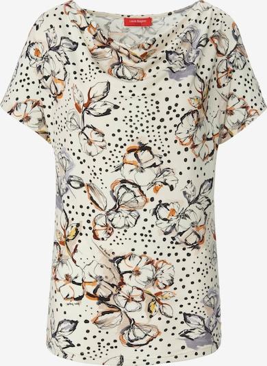 Laura Biagiotti Roma Shirt mit Allover-Muster in beige / mischfarben, Produktansicht