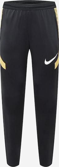 NIKE Športové nohavice 'Strike' - zlatá / čierna / biela, Produkt