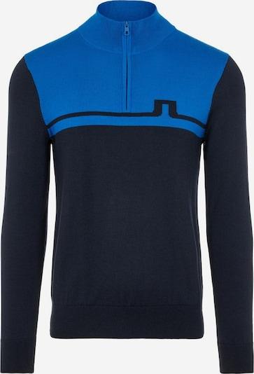 J.Lindeberg Sporttrui 'Theo' in de kleur Blauw / Nachtblauw, Productweergave
