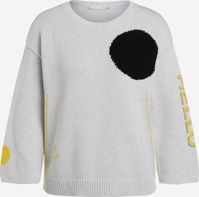 OUI Pullover in gelb / hellgrau / schwarz, Produktansicht