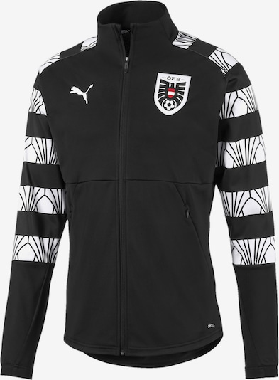 PUMA Sportjas in de kleur Rood / Zwart / Wit, Productweergave