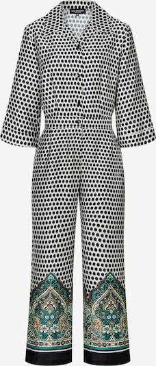 Ana Alcazar Jumpsuit ' Zaby ' in de kleur Turquoise / Zwart / Wit, Productweergave