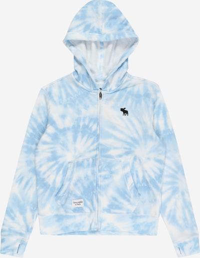 Giacca di pile Abercrombie & Fitch di colore blu fumo / bianco, Visualizzazione prodotti