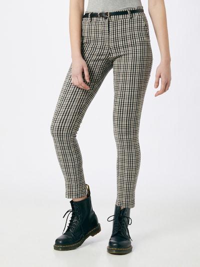 ZABAIONE Pantalon chino en gris / noir, Vue avec modèle