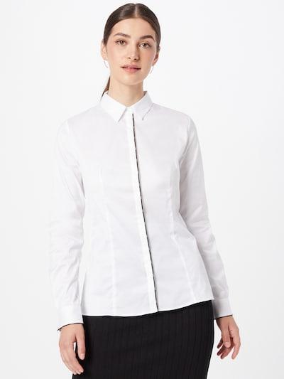 HUGO Bluse 'Etrina1' in schwarz / weiß, Modelansicht