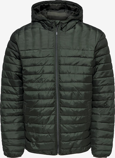 Only & Sons Jacke 'Paul' in dunkelgrün, Produktansicht