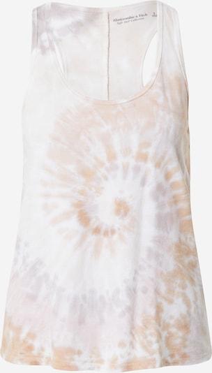 Abercrombie & Fitch Топ в пастелнолилаво / пастелно оранжево / бяло, Преглед на продукта