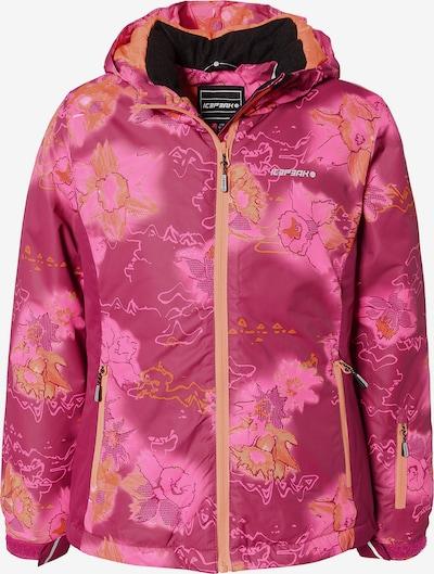 ICEPEAK Skijacke 'Linn' in gelb / pink / burgunder, Produktansicht