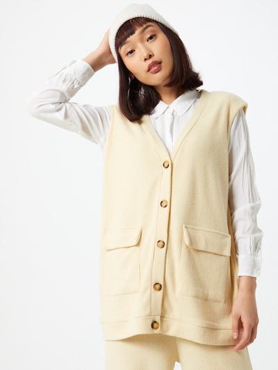 Vestă tricotată Damson Madder pe crem, Vizualizare model