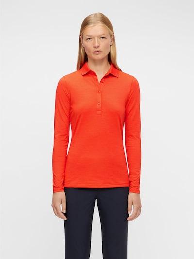 J.Lindeberg Poloshirt in orangerot: Frontalansicht
