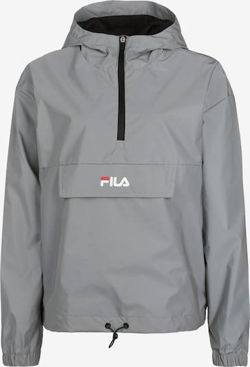 FILA Jacke 'Ena' in silbergrau / feuerrot / weiß, Produktansicht