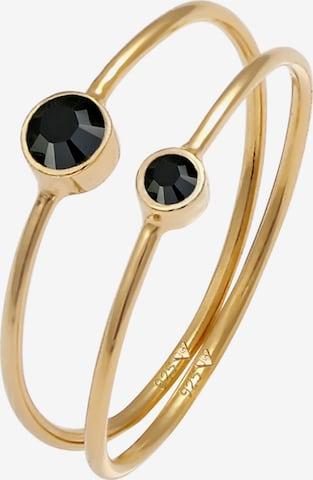 ELLI Ring Solitär-Ring, Doppelring in Gold