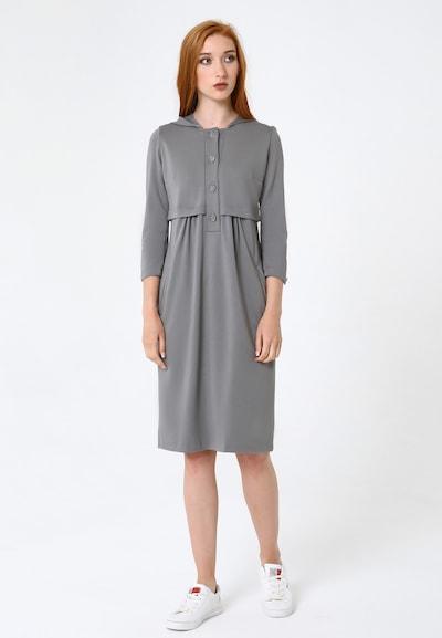 Madam-T Kleid 'Vetra' in grau, Modelansicht