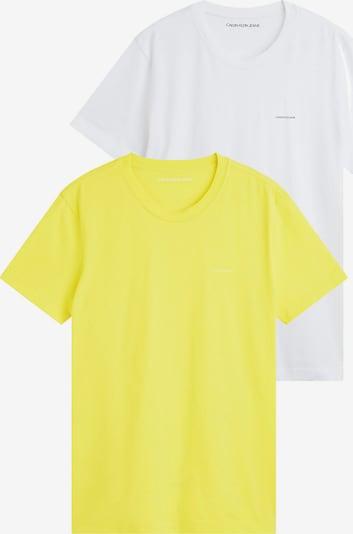 Calvin Klein Jeans Majica u žuta / bijela, Pregled proizvoda