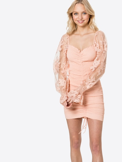 Love Triangle Kleid 'KATIE' in pfirsich, Modelansicht