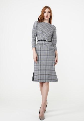 Madam-T Kleid 'Muara' in Grau