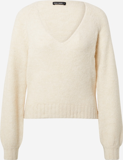 Tally Weijl Sweater 'SPUACBUBLE' in Off white: Frontal view