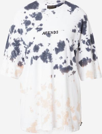 Tricou Afends pe albastru porumbel / portocaliu caisă / negru / alb, Vizualizare produs