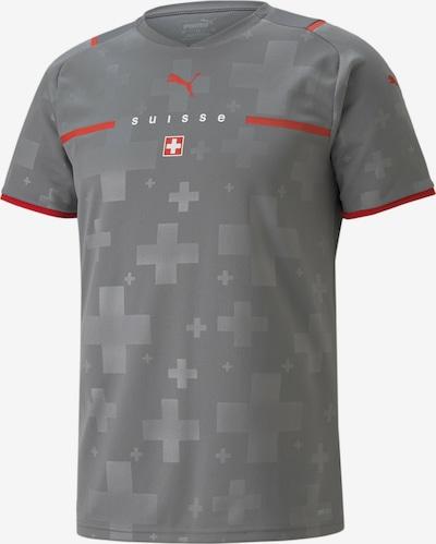 PUMA Tricot 'Schweiz' in de kleur Lichtgrijs / Donkergrijs / Vuurrood / Wit, Productweergave