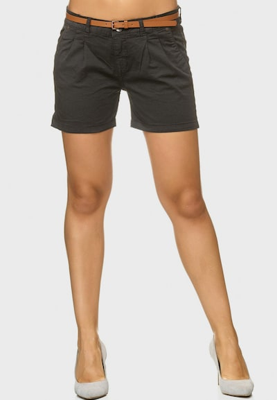 INDICODE JEANS Shorts in dunkelgrau: Frontalansicht