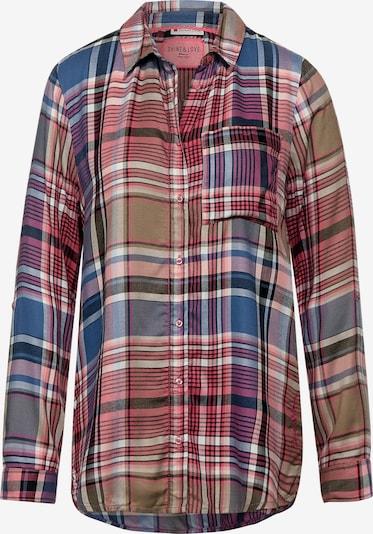STREET ONE Bluse in beige / blau / rot, Produktansicht